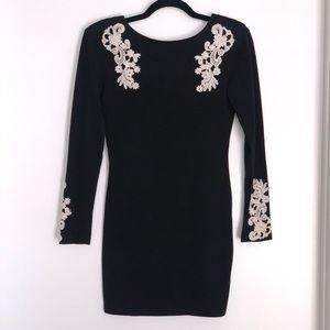 Topshop embroiderer appliqué mini dress